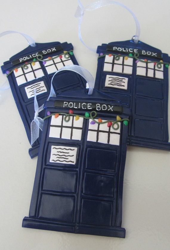 Dr. Who's TARDIS Christmas Ornament by WildflwrButtonStudio