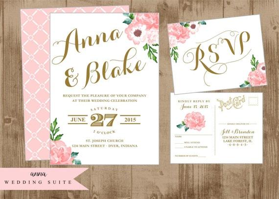 Wedding Invitation Map Maker: Printable Wedding Suite Invitation Reply Post Card