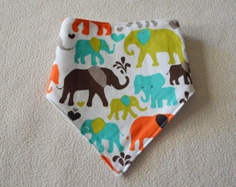 Everything Elephants Bandanna Bib