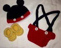 Mickey mouse costume,Mickey mouse photo prop, Mickey mouse hat, made to order