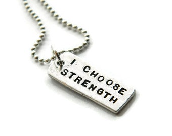 I Choose Strength Necklace Crossfit Necklace