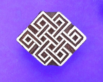 Celtic Knot Stamp Hand Carved  Indian Print Block (A94)