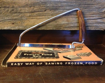 Vintage 1950s Hostess Frozen Food Saw in Original Box With Bakelite Handle – Unused – You Know You Need One!