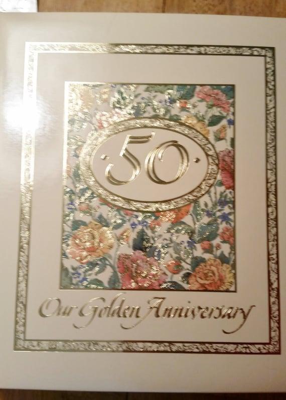 Hallmark 50th Wedding Golden Anniversary Scrapbook Album