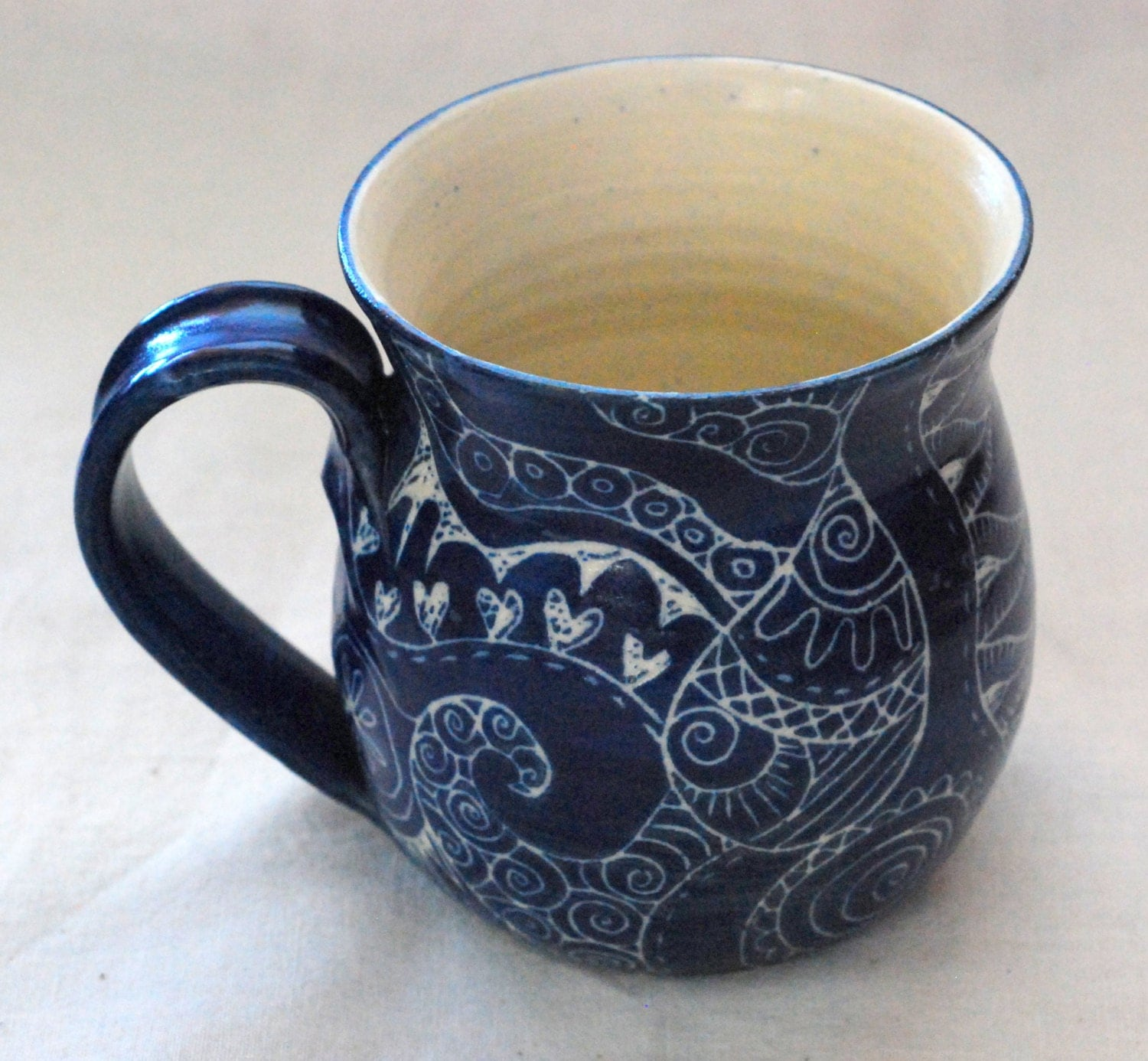 unique coffee MUG Handmade and hand decorated mug for coffee