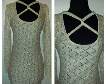 Entrapment mini sweater dress