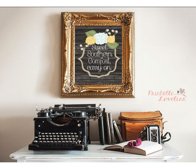 Southern wall art home decor country style sweet southern for Southern country home decor