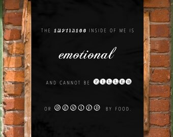 Eating Disorder Mental Health Art Print Wall Decor Printable INSTANT DOWNLOAD