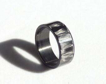 spectacular shining carbon fiber ring