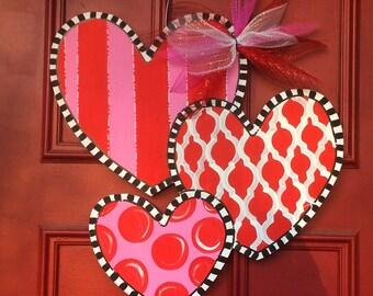 Valentine's Day Door Hanger, Hearts Door Hanger, Welcome Door Hanger, Love