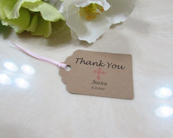 Personalized Favor Tags 2 1/2'', baptism tags, Thank You tags, Favor tags, Gift tags, Girl baptism, Girl baptism, Favor tag, Baby Girl Tag