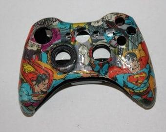 Custom Xbox 360 Comic Book Controller DC Comics Superman The Man of Steel Clark Kent