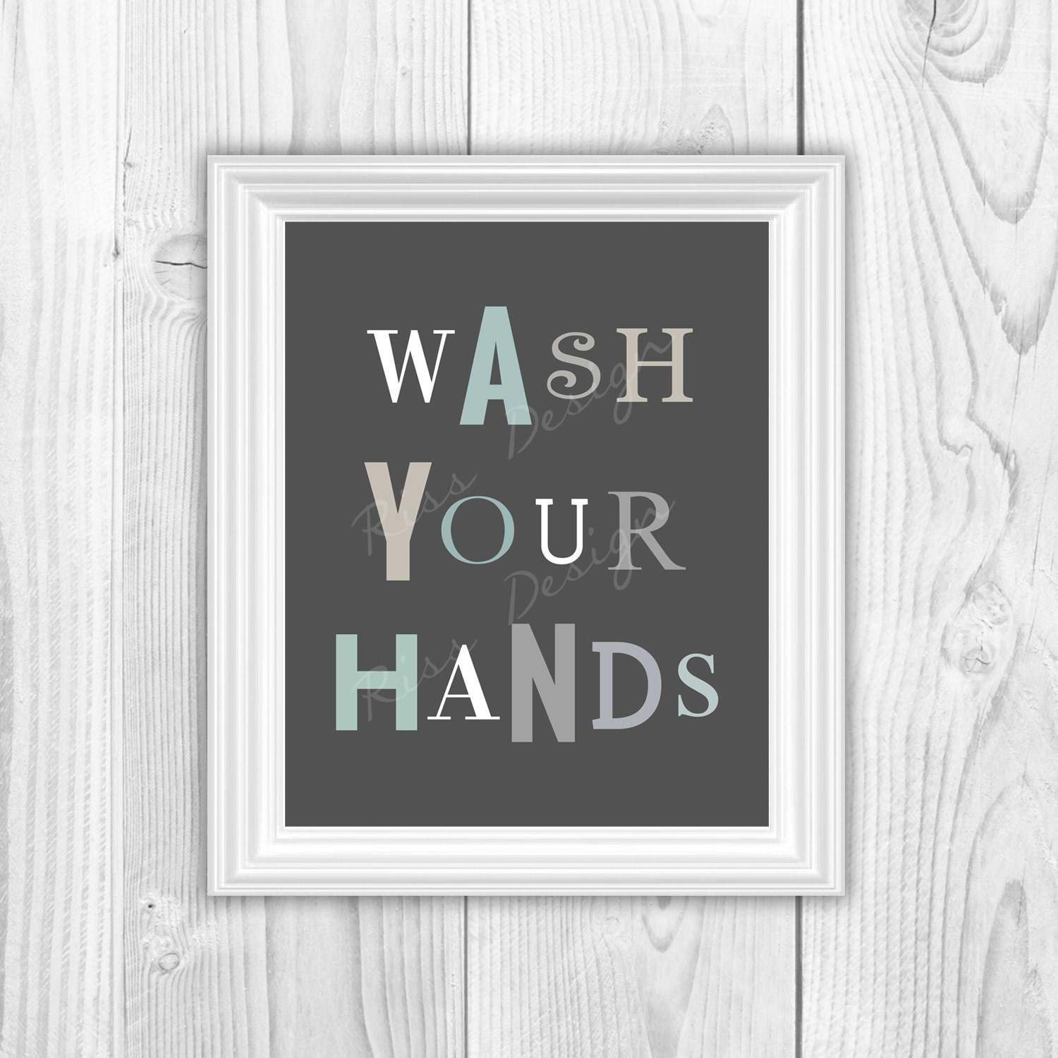 Bathroom wall art printables - Wash Your Hands And Brush Your Teeth Printables Bathroom Wall Art Typography Bathroom Art Printable You Pick Colors