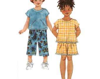 Simplicity Sewing Pattern 9677 Childs' Top, Pants, Shorts  Size:  A  3-4-5-6-7-8  Used