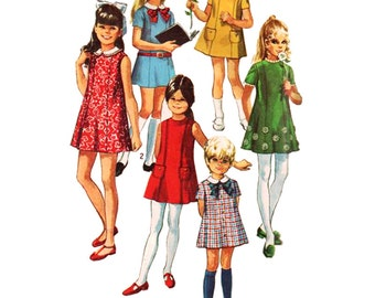 Simplicity Sewing Pattern 8621 Girls' Dresses  Size:  4  Used