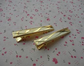 100pcs gold metal Alligator Clip--45x7mm