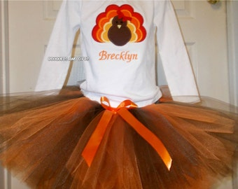 Thanksgiving Tutu Set, Toddler Girl Thanksgiving Outfit, Girl Toddler Thanksgiving Outfit. Girl Turkey Outfit, Turkey Tutu Set