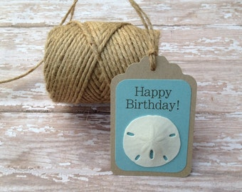 Sand dollar Gift Tags, Set of 6 Everyday Sentiments Assortment Gift Tags, Beach Favor Tags