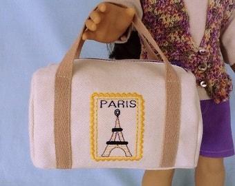 Paris Travel Duffle Bag for American Girl/18 Inch Doll