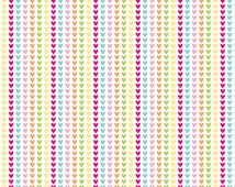 Sweet Home Hearts Multi by Riley Blake Designs 1/2 Yard 100% Designer Cotton by Melly & Me C3735-MULTI