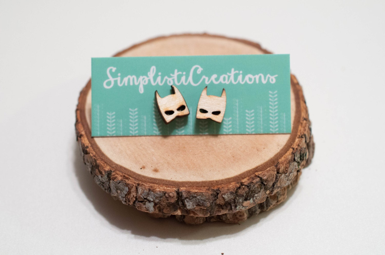 Laser-Cut Batman Wood Earrings from SimplistiCreations