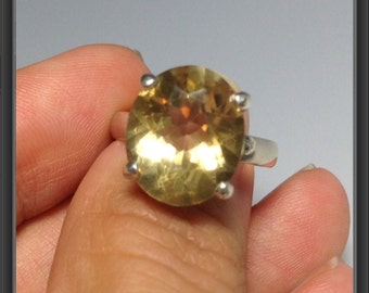 Sterling Silver ring with Citrine US size  6