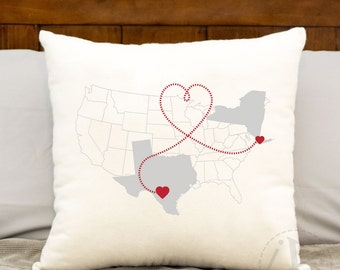 New York City Pillow Etsy - Us map pillow personalized