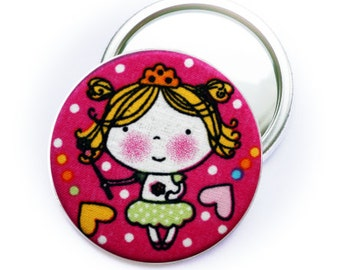 PIN back button or Pocket mirror or bottle opener Princess