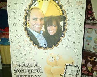 Framed picture Birthday, Engagement card, Anniversary Card, wedding card, birthday card, husband birthday, wife birthday, girlfiend birthday
