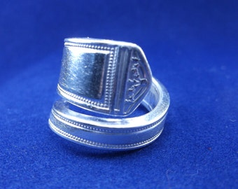 Spoon Ring 1924 'Anniversary' Handmade Spoon Jewelry  size 9