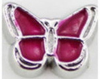 Floating Charm ~ 1 piece Burgundy Butterfly  FC010