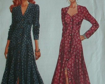 Misses Loose-Firrint, Flared Dress Size 6-8-10-12 Butterick Pattern 6901 Rated Easy to Sew UNCUT Pattern Dated 1993