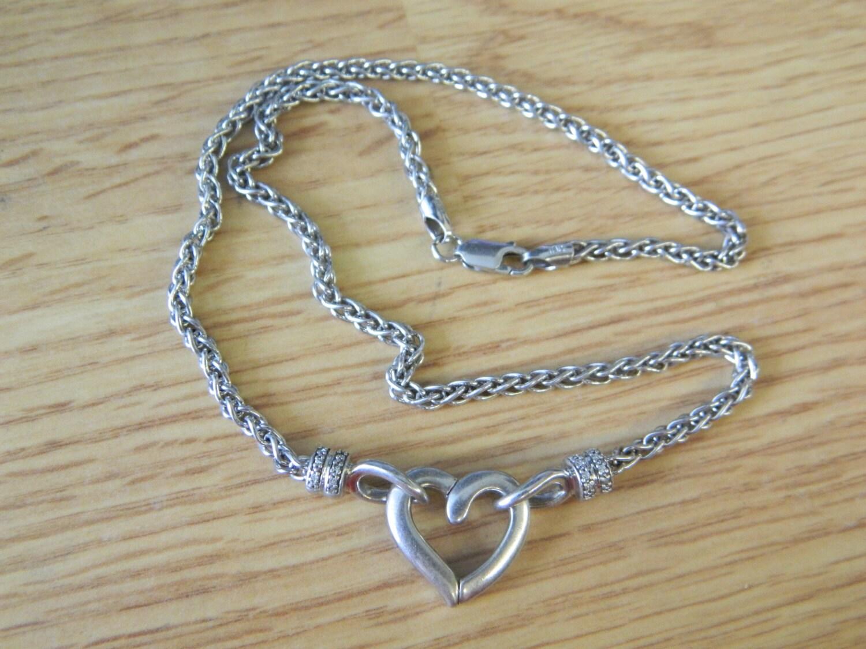 925 italy rhinestone necklace 17 by simonsgems on etsy