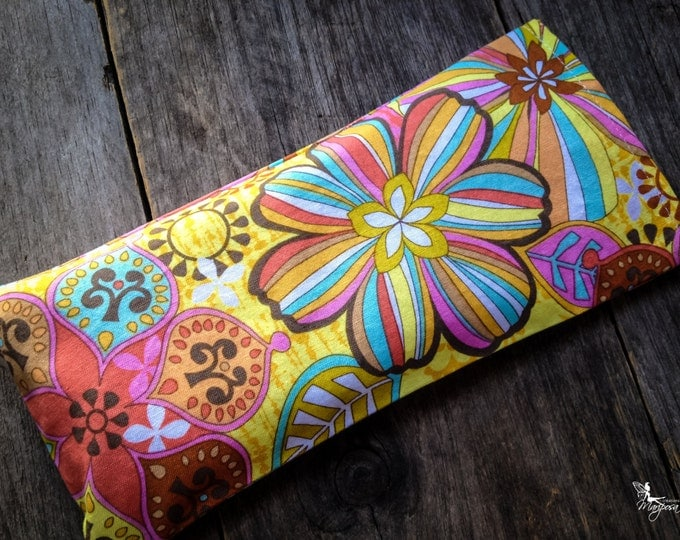 Floral Sorbet Yoga eye pillow Lavender or camomile aromatherapy meditation relaxation Handmade by Creations Mariposa RY-FS