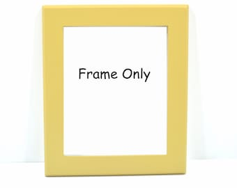 8 x 10 Painted Picture Frame, with Beveled Edge-FRAME ONLY, No Glass, Backing or Hardware,  Shown in our Ant. Gold Finish