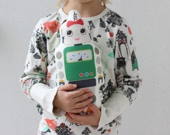 Robot Girl Pillow Stuffed Toy