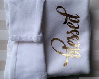 Inspirational - Blessed Baby Onesie Layette - White