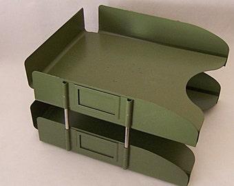Vintage metal industrial file holder