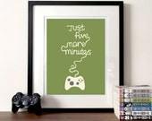 Gaming-Plakat, Übersetzung, Druck, fünf Minuten, Videospiel-Kunst, Controller, Abbildung Druck, lustig, Spiel Drucke für Gamer