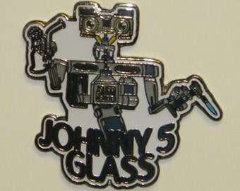 Johnny 5 Glass Hat Pin