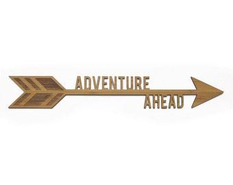 Adventure Ahead Arrow | Laser cut Nursery & Kids Decor