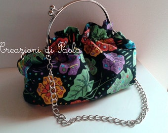 Thousand colours black handbag