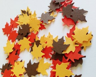 FALL LEAF Confetti Punches (100ct)