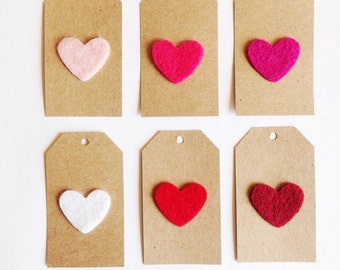 Felt Heart Tags