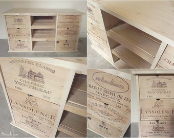 Made to Order - Rustic Wine Panel TV/ Storage/ Media/ Entertainment Unit