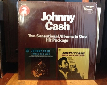 Johnny Cash - I Walk The Line and Rock Island Line - 2x Vinyl