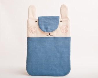 Bunny macbook pro case, Blue MacBook Cover, macbook air 13 sleeve, Animal Custom Laptop sleeve, MacBook Pro Retina 13 case