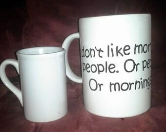 Giant Coffee Mug Decor Piece, Humorous Coffee Decor, Giant Coffee Mug for the Office