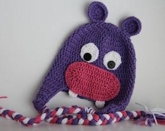Crochet Hipp Hat - Hippo Costume - Hippo Hat