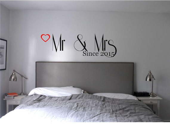 wall decals for master bedroom mr amp mrs master bedroom wall decal wall vinyl 20083